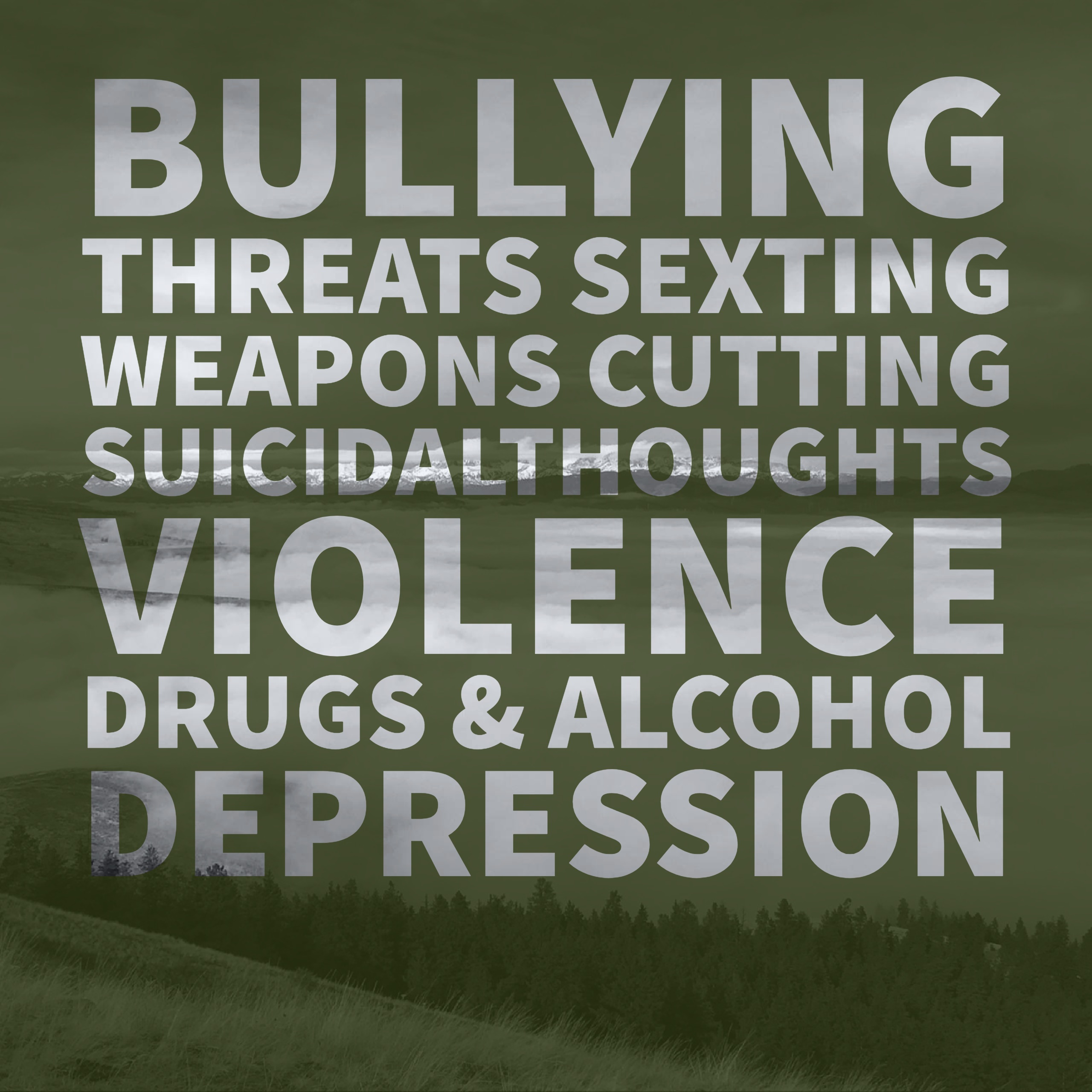 Bullying, threats ad violence graphic